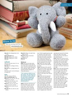 Knit Now 45 2015 03 - Amigurumi Teddy Bear Knitting Pattern, Knitted Doll Patterns, Animal Knitting Patterns, Knitted Dolls, Knitting Designs, Knitting Projects, Knitted Stuffed Animals, Knitted Bunnies, Knitted Animals
