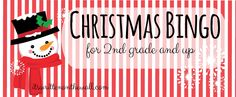 Christmas Bingo for young kids and older kids-Great Fun for Christmas Parties