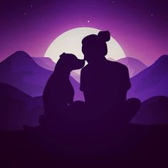 An illustration to illustrate the beautiful bond every dog owner shares with their pet! Made in Adobe Draw. Post editing in Photoshop. Dog Illustration, Illustrations, Alone Art, Silhouette Painting, Applis Photo, Diy Canvas Art, Girl And Dog, Art Drawings Sketches, Dog Art