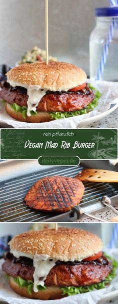 Vegan food rib Burger Informations About Vegan Mad Rib Burger, rauchig, saftig, BBQ! – Dailyvegan Pin You can easily use Burger Recipes, Vegetarian Recipes, Easy Homemade Burgers, Vegan Ribs, Cake Vegan, Vegan Food, Burger Co, Sandwiches, Vegans