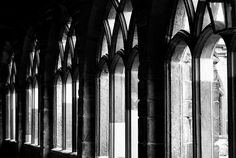 Durham Cloisters #dailyshoot #durham  Was in Durham in the North East of England and had a chance to get some shots of the amazing ancient Cathedral there, dating back over a 1000 years! This just a snapshot in the cloisters, but shows a great depth of field and so was able to use a manual setting on the camera. Cropped slightly.