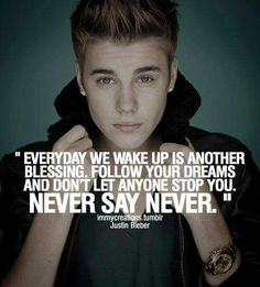 #never say never  #JustinBieber
