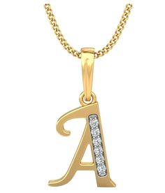 Carrydreams Gold Plated A Letter Initial Pendant with Chain Initial Jewelry, Initial Pendant, Gold Jewelry, Unique Jewelry, Jewellery, Diamond Pendant, Gold Pendant, Couple Rings Gold, Stylish Alphabets