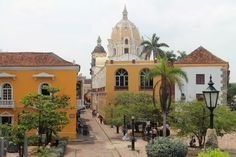 Cartagena Colonial Walled City Colombia - Street