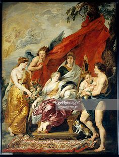 Birth of the Dauphin at Fontainebleau (from Marie de' Medici Cycle) - Peter Paul Rubens. Oil on canvas. 394 x 295 cm. Peter Paul Rubens, Rubens Paintings, Rembrandt Paintings, Oil Paintings, Palais Du Luxembourg, Joseph Of Arimathea, Oil On Canvas, Canvas Art, Artists