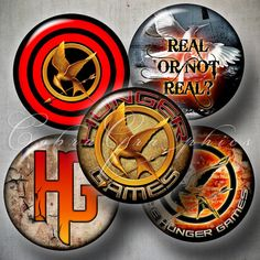 Hunger Games Printable Decals for Magnets or Stickers