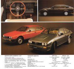 Alfa Romeo Alfetta GTV 2.0/GTV 6 - 2.5 Alfa Romeo Gtv6, Alfa Romeo Cars, Saab Turbo, Alfa Gtv, Car Advertising, Car In The World, Automotive Industry, Maserati, Old Cars