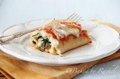 Spinach and Mushroom Lasagna Rolls - Baked by Rachel