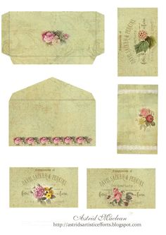An envelope with 4 note cards / Astrid's Artistic Efforts: Friday Freebie