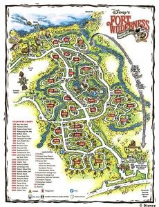 Fort Wilderness Map...link has great info about the sites at Fort Wilderness. I remember staying here in my grandparent's motor home when I was little. I loved meeting and playing with the kids from the other sites! Best place to stay if you want a really social experience!!!