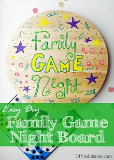 This DIY family game night board makes the board easy to rotate so little hands can always reach their pieces and keeps the board in place while you play!