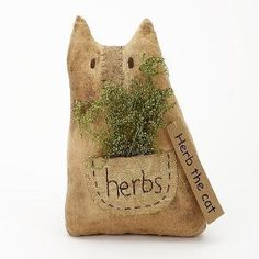 Herb the Cat Primitive Decor $8.99