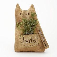Herb the Cat Primitive Decor $8.99
