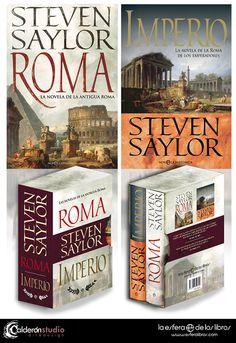 Diseño del contenedor recopilatorio de las novelas Roma e Imperio de Steven Saylor que he realizado para La Esfera de los Libros.