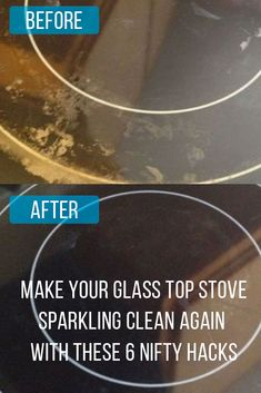 Is your glass top stove dirty? Make it sparkling clean again with these 6 nifty hacks Give your glass cooktop stove a deep clean nifty hacks! I Tried this and it totally works! My stove top is super clean! Deep Cleaning Tips, House Cleaning Tips, Diy Cleaning Products, Spring Cleaning, Car Cleaning, Cleaning Flat Top Stove, Clean Stove Tops, Electric Stove Top Cleaning, Cleaning Window Tracks