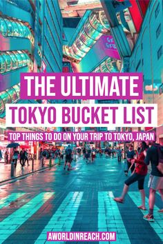 Planning a trip to Tokyo, Japan? Make sure to add these exciting sights, activities, and things to do in Tokyo to your Tokyo Bucket List! Tokyo Travel Guide, Japan Travel Guide, Asia Travel, Tokyo Japan Travel, Japan Japan, Kyoto Japan, Okinawa Japan, Vietnam Travel, Travel Guides