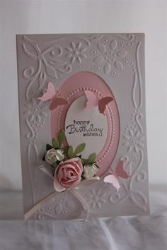 Cuttlebug card   Helens Card Designs