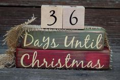 Christmas Countdown, Days Till Christmas, Etsy Christmas, Christmas Makes, Vintage Christmas, Christmas Things, Green Christmas, Christmas Tree, Red Crafts