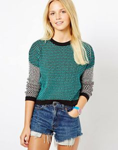 ASOS Jumper In Blocked Pattern