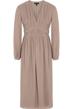 Burberry ProrsumRuched silk-georgette midi dressfront
