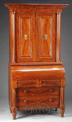 c1820 Classical desk bookcase, Boston, MA, mah, 93t, 05-8, / 08-2.