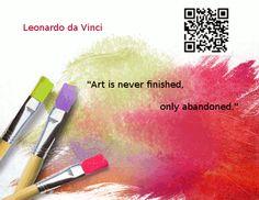 Great quote by Leonaro da Vinci