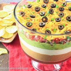 This 7 layer dip is always one of the first dishes gone at parties. It's very easy to make and tastes so delicious. There are many variations of this Mexican dip, but this is personally my favorite version. If you prefer to use homemade pico de gallo instead of salsa, you can find the recipe