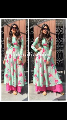 FULLY STITCHED FLORAL SUIT WITH PALAZZO AVAILABLE WITH US.CONT FOR MORE CS VILLE 9891403364 Palazzo, Latest Fashion, Suits, Floral, Dresses, Vestidos, Florals, The Dress, Dress