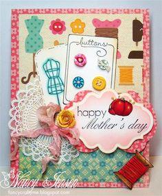Cute sewing card