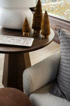 Tips for Creating a Seasonal Home - Studio McGee Studio Mcgee, Home Studio, Festival Decorations, Ottoman, New Homes, Cozy, Holiday, Christmas, Living Room