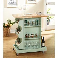 Make your kitchen more efficient for cooking and entertaining with this attractive rolling cart. The Simple Living Hampton Kitchen Cart is perfect for afternoon tea, hors d'oeuvres or cocktail hour. Kitchen Furniture, Diy Furniture, Kitchen Decor, Furniture Stores, Kitchen Ideas, Primitive Furniture, Furniture Market, Furniture Assembly, Camper Furniture
