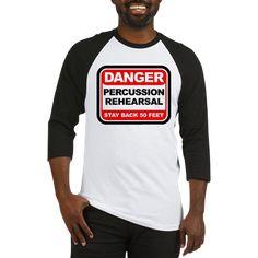 Danger: Percussion Rehearsal Baseball Jersey