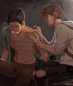 Newt X Minho Newt always there to help him out.<<I would ship them if Newt was genderbent, otherwise, they are just friends, brothers