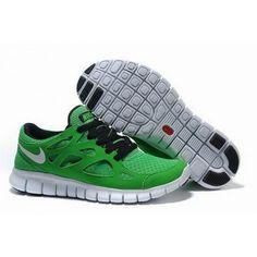 Mens Nike Free Run 2 Shoes Green Black