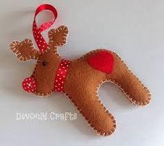 felt reindeer decoration - Google Search