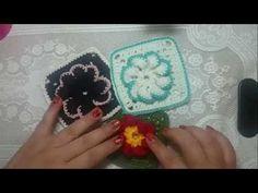 DIY CROCHET SQUARE FLOWER QUADRADO DE FLOR MUITO FÁCIL