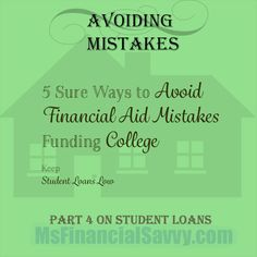 Avoid financial aid mistakes, keep student loan debt low and get the best available financial aid.  #avoidfinancialaidmistakes #studentloans #keepstudentloanslow #college #collegelife