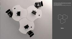 "Mobile furniture ""Flower"" by Olga Kryukova, via Behance"