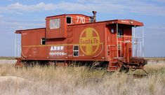 Old Santa Fe Railroad Caboose (Western Lubbock County, Texas) by courthouselover, via Flickr