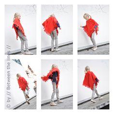 DIY polar fleece poncho