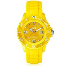 Women's Wrist Watches - IceWatch Unisex SIYWUS09 Sili Collection Yellow Plastic and Silicone Watch * Read more at the image link.