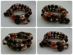 Swarovski pearl wrap. Wrap Bracelets, Swarovski Pearls, Leather, Jewelry, Fashion, Moda, Jewlery, Jewerly, Fashion Styles