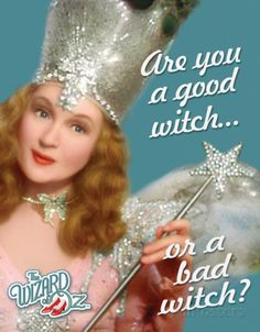 Wizard of Oz Good or Bad Witch Tin Sign at AllPosters.com  I HAVE THIS TIN!  It is my special KNITTING tin, where I keep all my knitting notions!