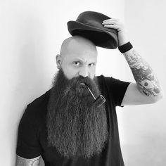 Bald With Beard, Cowboy Hats, Fashion, Moda, Fashion Styles, Bald Head With Beard, Fashion Illustrations