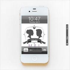 Silhouette Monogram Phone Wallpaper | CHECK OUT MORE IDEAS AT WEDDINGPINS.NET | #printableweddingtemplates