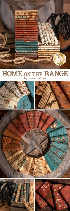 Saddle up partner! The Home On The Range fabric collection is filled with fun western-themed prints by Deb Strain for Moda Fabrics. 100% Cotton. Shop the available yardage, precuts, and kits available in this collection at www.shabbyfabrics.com!