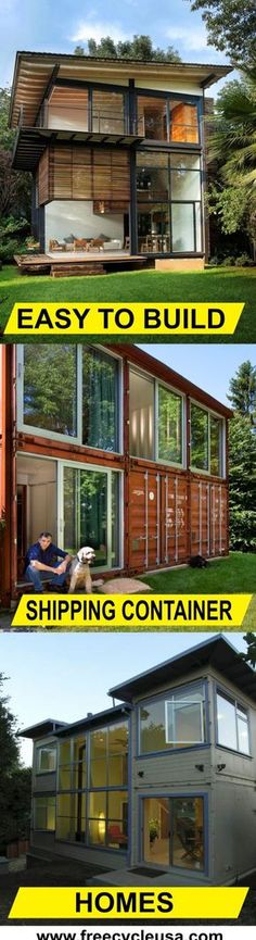 Container House - Lean how to build a Shipping Container Home with the best plans period. - Who Else Wants Simple Step-By-Step Plans To Design And Build A Container Home From Scratch? Storage Container Homes, Building A Container Home, Container Buildings, Container Architecture, Container House Plans, Container House Design, Shipping Container Homes, Architecture Design, Shipping Containers