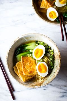 Flourishing Foodie: Chili Glazed Tofu with Miso Ramen