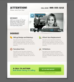 This landing page template is ideal for consultants our service providers who are looking for new clients, or people who want to increase their newsletter subscriber list.  This template includes a contact form which opens in a modal window, keeping the design simple and uncluttered, as well as an optional Subscribe button.
