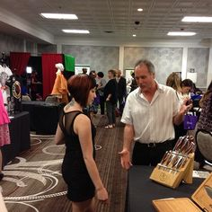 Chef Alex at the NutriChef booth at the Danny Vegas Business Expo.